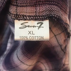 Seven7 Tops - Seven7 flannel hooded button up shirt